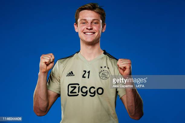 Frenkie de Jong poses for a photo during the Frenkie de Jong Portrait shoot on March 29 2019 in Amsterdam Netherlands