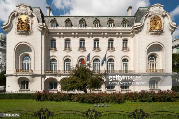 frensh embassy building, belgian art nouveau, 1900-1909, schwarzenbergplatz, vienna, austria - 1900 1909 stock pictures, royalty-free photos & images