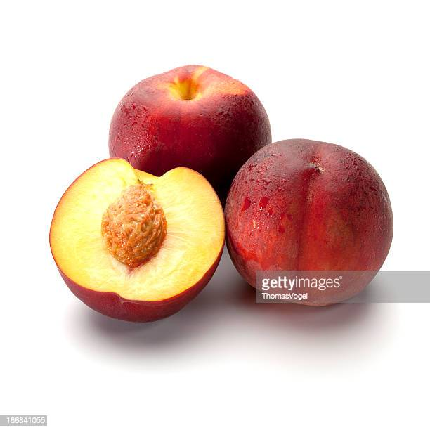 fresch peach fruits - peach stock photos and pictures