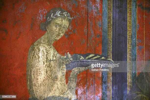Fresco at the Villa of the Mysteries in Pompeii