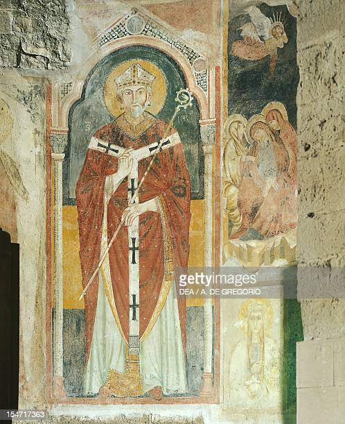 Fresco Basilica of San Nicola di Bari Apulia Italy 12th century