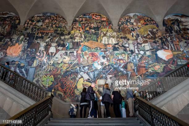 A fresco by Diego Rivera in the Palacio Nacional on January 23 2019 in Mexico CityMexico