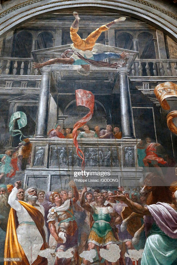 Fresco By Giovanni Paolo Lomazzo In San Marcos Church Milan Stock ...