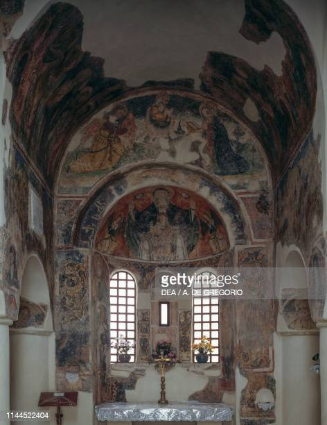 Fresco cycle, 10th-11th century, apse of the Church of St Peter, Otranto, Apulia, Italy.