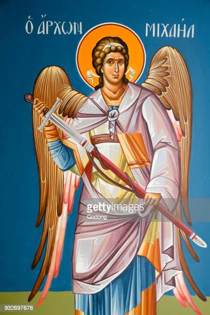 Fresco depicting archangel Saint Michael Cyprus