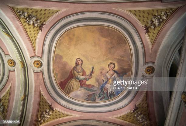 Fresco in the Church of St Martin Oberwolz Styria Austria