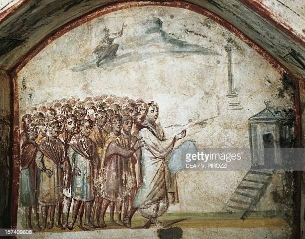 Fresco in the Via Latina Catacomb Rome Italy 4th century BC