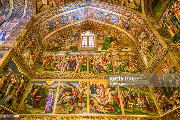 Fresco inside Vank Cathedral in Isfahan, Iran