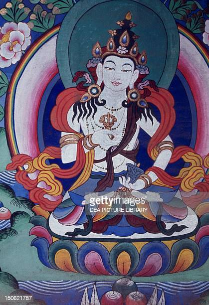 Fresco of a Buddhist Temple in Nepal