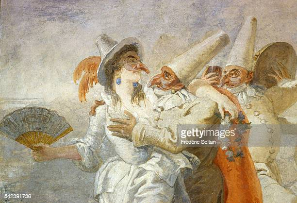 Fresco of painter Giambattista Tiepolo in Ca' Rezzonico a palace located on the Grand Canal