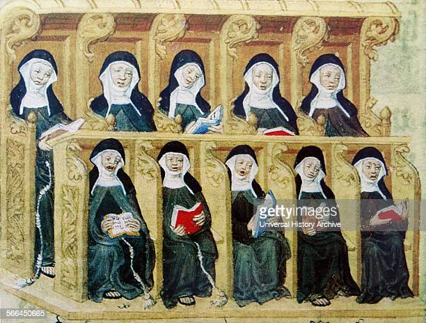 Fresco of Poor Clares in Choir Nuns were not expected to be as educated as the monks They would have their missals for reference whilst the monks...