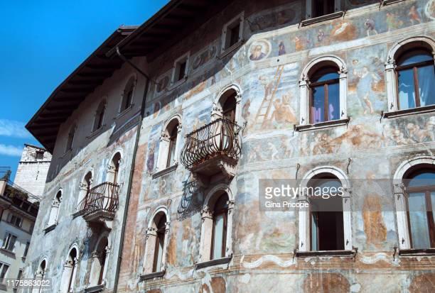 fresco on an external wall - fresco stock pictures, royalty-free photos & images