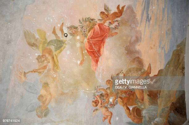 A fresco on the ceiling at the entrance to the garden Ducal Palace of Colorno EmiliaRomagna Italy 17th century
