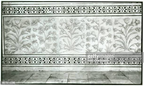 A fresco on the wall A detail of a mural from inside the Taj Mahal Background to this image With the threat of War looming in Europe Edward...