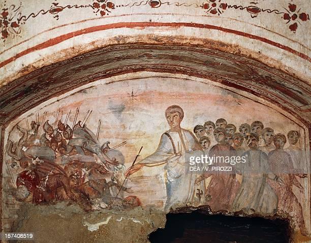 Fresco Via Latina Catacomb Rome Italy 4th century