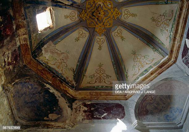 Frescoed ceiling in the Palace of the Rais or Bastion 23 before the restoration Algiers Algeria 16th18th century