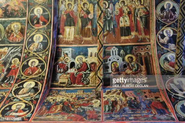 Frescoed vault in the Church of the Archangel Michael Milies Pelion peninsula Greece 18th century