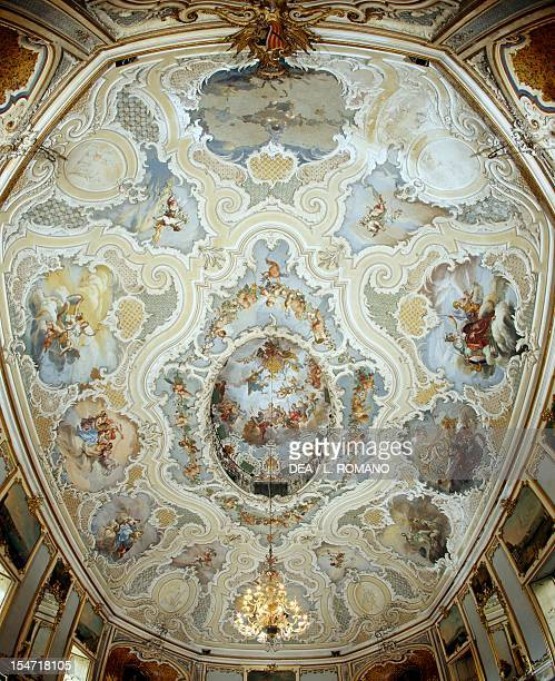 Frescoed vault of the Ballroom by Matteo Desiderato and Sebastiano Lo Monaco Palazzo Biscari Catania Sicily Italy 18th century