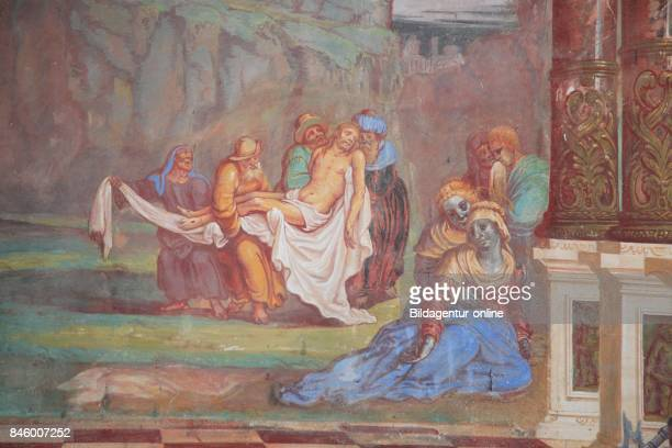 Frescoes at Saeben Abbey. Kloster Saeben. Monastero di Sabiona is a Benedictine Nunnery Located near Klausen In South Tyrol. Italy.