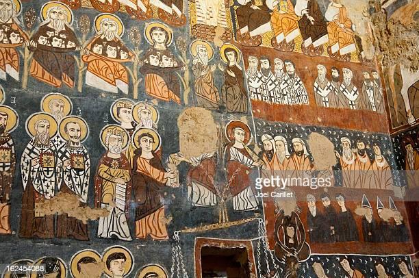 Fresken im Syrische Kloster Deir Mar Musa