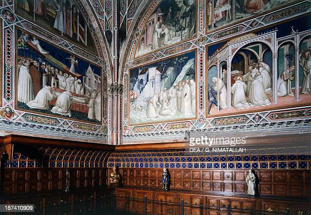 Frescoes depicting Stories of Saint Benedict, by Spinello Aretino , Sacristy, San Miniato al Monte , Florence. Italy, 10th-15th century.