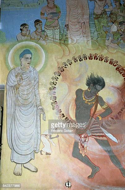 Frescoes from the Mulagandhakuti Vihara where Buddha spent the first rains retreat