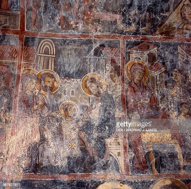 Frescoes in the Byzantine Church of Agios Nikolaos Maza Crete Greece 13th century