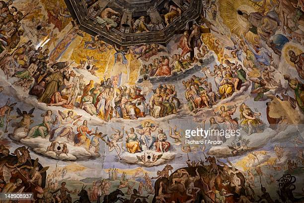 Frescos decorating dome of Florence Cathedral (Duomo).
