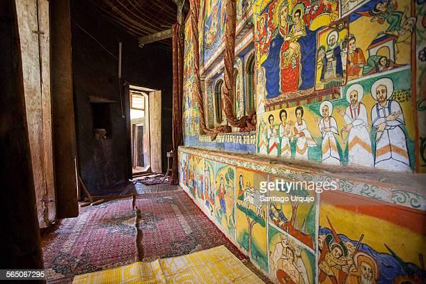 Frescos in orthodox monastery of Azuwa Maryam