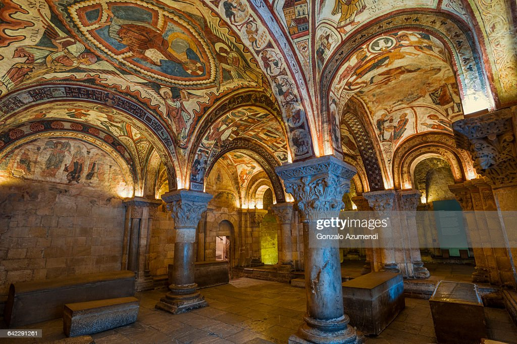 Frescos in San Isidro basilic in Leon : Stock Photo