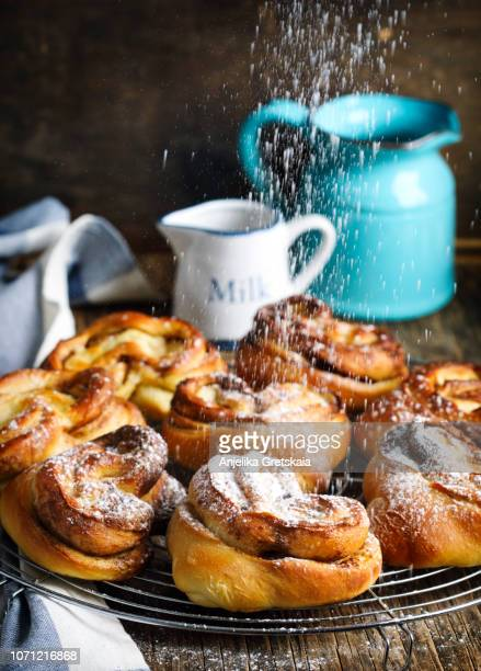 Fresh and delicious cinnamon buns