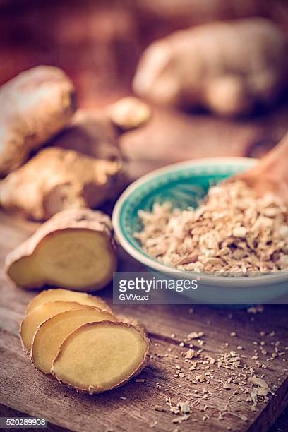 Jengibre sabor fresco y seco