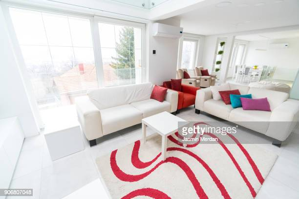 fresh and modern white style home interior - group of objects stock pictures, royalty-free photos & images