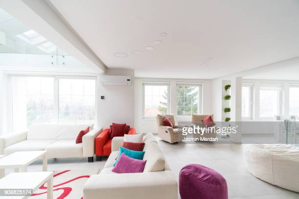 Fresh and modern white style home interior