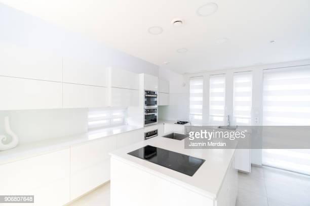 Fresh and modern white style home kitchen interior