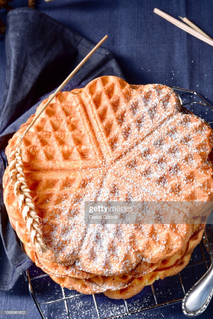 fresh and tasty Waffle : Stock Photo