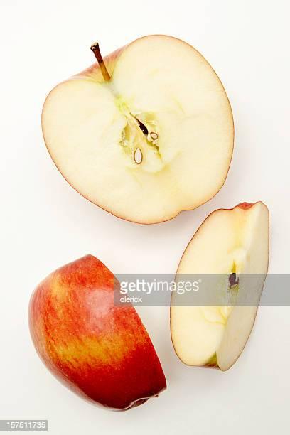 新鮮なりんごのスライス