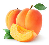 Fresh apricots isolated on white