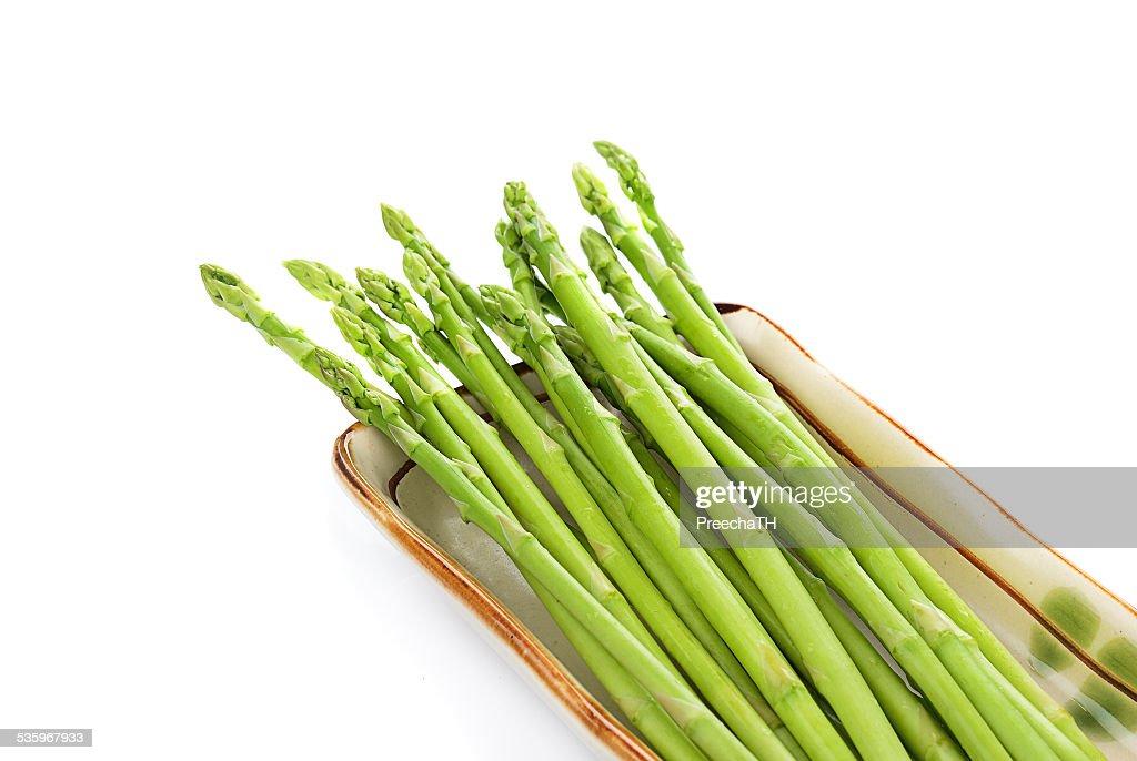 fresh asparagus isolated on white background : Stock Photo