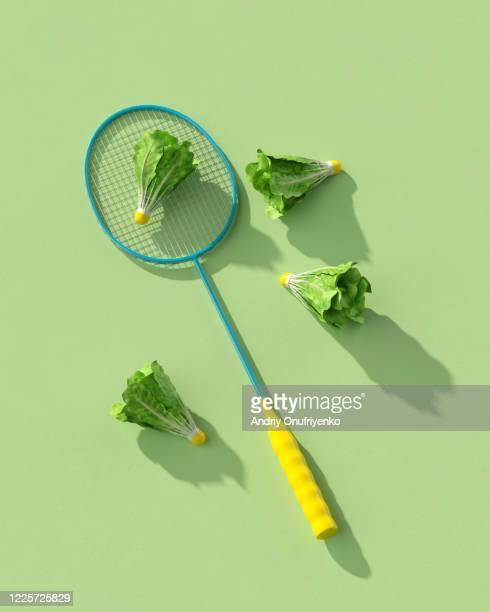 fresh badminton. - taking a shot sport stock pictures, royalty-free photos & images