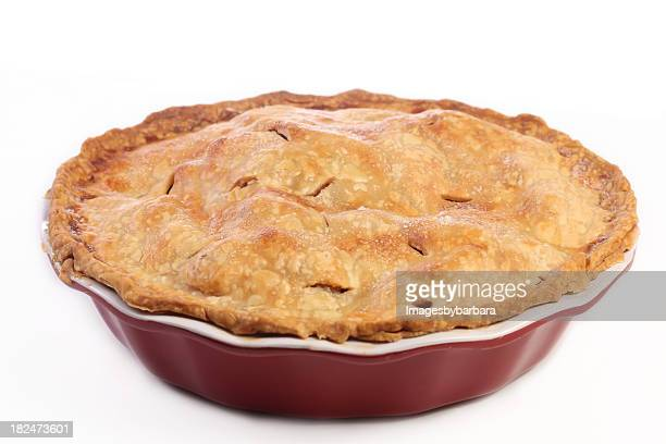 A fresh baked apple pie for dessert