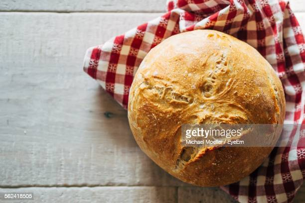 Fresh Baked Bread On Table