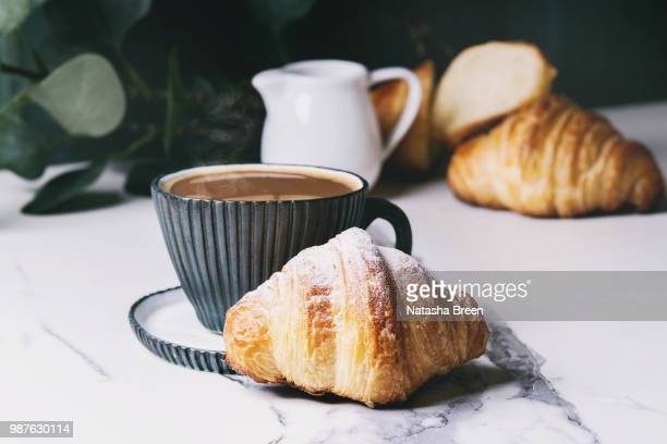 fresh baked croissant - baked pastry item stock pictures, royalty-free photos & images