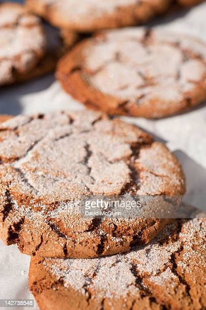 Fresh baked ginger snap cookies