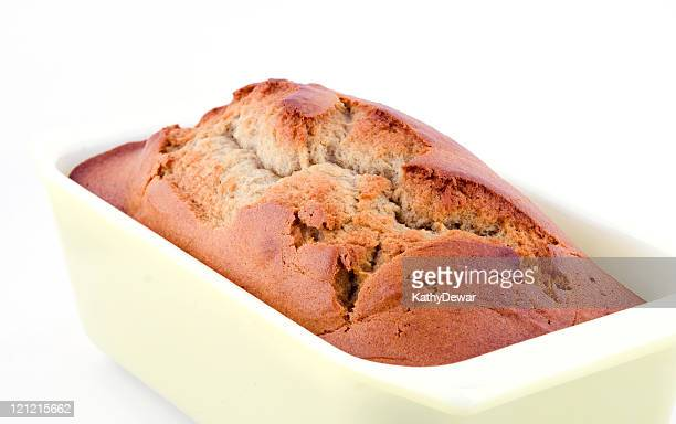 Fresh Baked Loaf of Banana Bread in the Pan Series