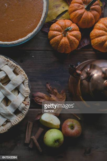Fresh Baked Pumpkin and Apple Pie