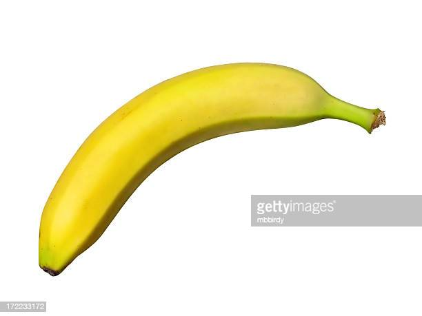 Fresh banana (path), isolated on white background