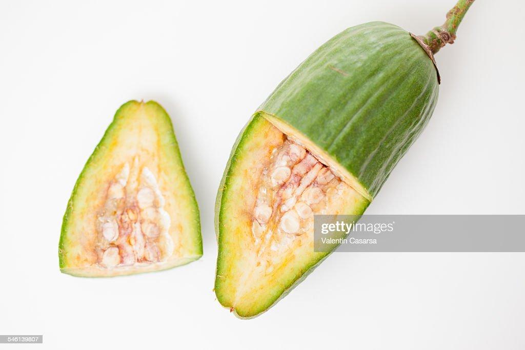 Fresh baobab fruit : Stock Photo