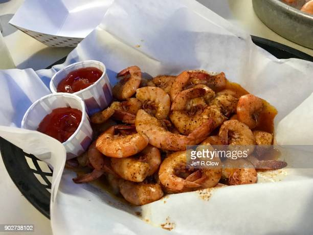 Fresh Barbecue Shrimp in South Texas
