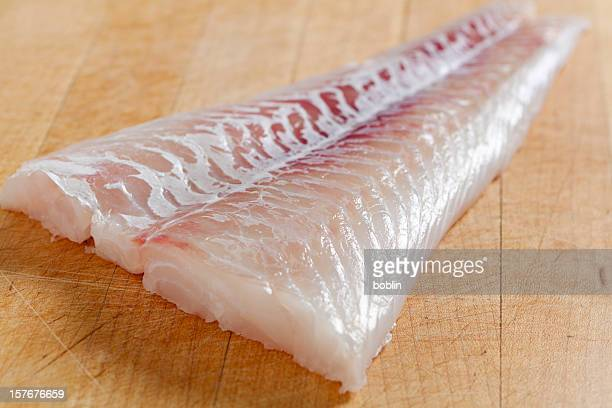 fresh boneless skinless cod filet - fillet stock pictures, royalty-free photos & images
